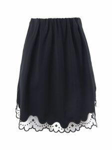 N.21 Black Virgin Wool Mini Skirt