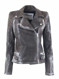 S.W.O.R.D 6.6.44 Stardust Brown Leather Fitted Biker Jacket