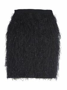 Federica Tosi Short Black Shiny Skirt