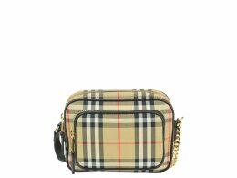 Burberry Vintage Check Motif Cotton Camera Bag