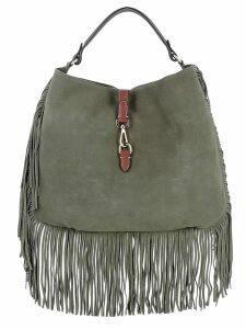 Avenue 67 Green Suede Handbag