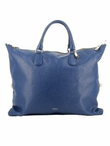Avenue 67 Blue Leather Tote