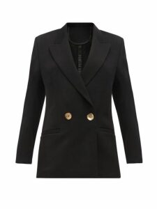 Petar Petrov - Jeffrey Double Breasted Wool Twill Blazer - Womens - Black