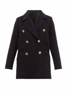 Blazé Milano - Pegaso Sealady Double Breasted Wool Blend Blazer - Womens - Navy