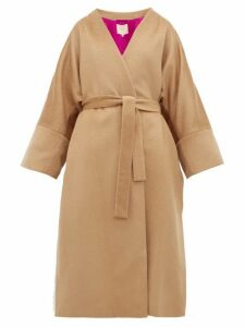 Roksanda - Larisa Belted Wool Blend Coat - Womens - Camel