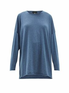 Eskandar - Boat Neck Cashmere Sweater - Womens - Blue