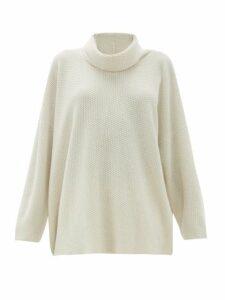 Eskandar - Moss Stitch Cashmere Sweater - Womens - Ivory