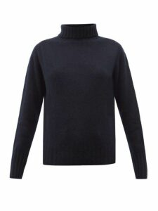 Margaret Howell - Ribbed Roll Neck Brushed Cashmere Sweater - Womens - Navy