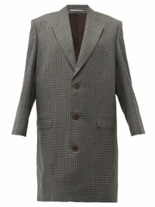 Martine Rose - Oversized Checked Wool Overcoat - Womens - Grey