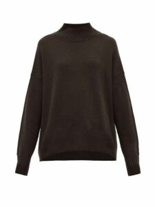 Allude - High Neck Cashmere Sweater - Womens - Brown