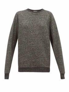 Raey - Raglan Sleeve Cotton Blend Sweatshirt - Womens - Dark Grey