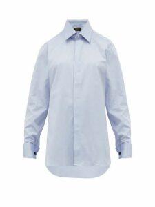 Emma Willis - French Cuffed Cotton Oxford Shirt - Womens - Dark Blue