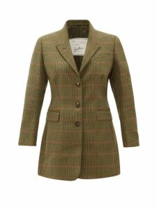 Giuliva Heritage Collection - The Karen Prince Of Wales Check Wool Blazer - Womens - Green Multi