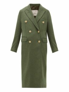 Giuliva Heritage Collection - The Cindy Merino Wool Twill Double Breasted Coat - Womens - Dark Green