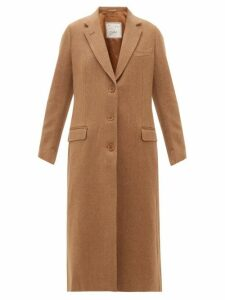 Giuliva Heritage Collection - The Tatjana Single Breasted Herringbone Twill Coat - Womens - Camel