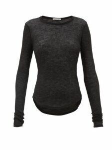 Frances De Lourdes - Romy Cashmere Blend T Shirt - Womens - Black