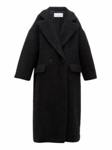 Raey - Double Breasted Wool Blend Blanket Coat - Womens - Black