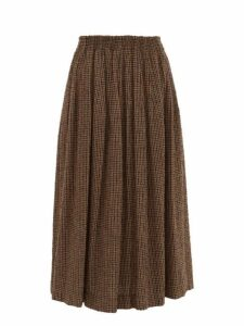 Raey - Elasticated Waist Textured Tweed Full Skirt - Womens - Brown Multi