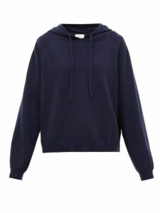 Allude - Hooded Wool Blend Sweater - Womens - Navy