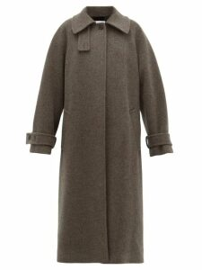 Raey - Oversized Raglan Sleeve Wool Blend Coat - Womens - Charcoal