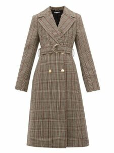 Stella Mccartney - Pow Double Breasted Checked Wool Coat - Womens - Black