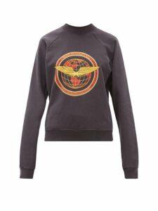 Phipps - Flight Logo Patch Cotton Sweatshirt - Womens - Navy