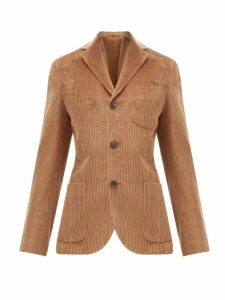 Holiday Boileau - Single Breasted Cotton Corduroy Blazer - Womens - Camel