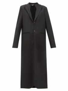Edward Crutchley - Maxi Length Single Breasted Wool Overcoat - Womens - Black