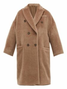 Brunello Cucinelli - Double Breasted Wool Blend Coat - Womens - Light Brown