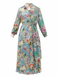 Junya Watanabe - Layered Floral Print Crepe Dress - Womens - Multi