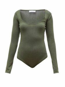 Gabriela Hearst - Emily Scoop Neck Bodysuit - Womens - Green