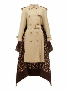 Burberry - Tb Wool Blend And Cotton Trench Coat - Womens - Beige