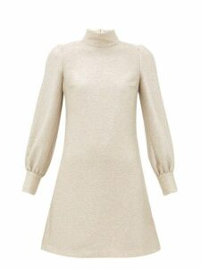 Bella Freud - Valley Of The Dolls Balloon Sleeve Mini Dress - Womens - Light Gold