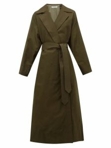 Katharine Hamnett London - Lola Oversized Cotton Blend Trench Coat - Womens - Khaki