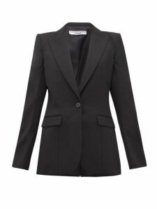 Katharine Hamnett London - Sofia Single Breasted Wool Blazer - Womens - Black