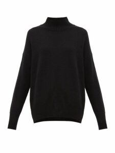 Allude - Oversized High Neck Cashmere Sweater - Womens - Black