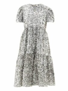 Ashish - Ufo Sequinned Midi Dress - Womens - Silver