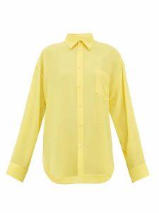Balenciaga - Silk Crepe Blouse - Womens - Yellow