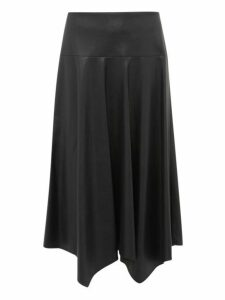 Rebecca Taylor - Faux Leather Midi Skirt - Womens - Black