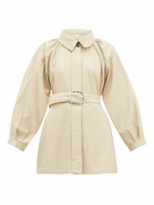 Dodo Bar Or - Berry Spread Collar Leather Jacket - Womens - Ivory