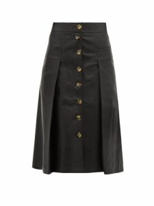 Dodo Bar Or - Galina High Rise Leather Midi Skirt - Womens - Black