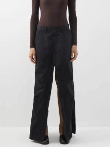 Raey - Crew Neck Basketweave Wool Sweater - Womens - Blue