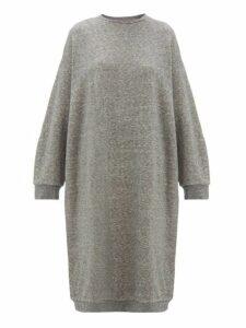 Raey - Oversized Cotton Blend Midi Dress - Womens - Grey