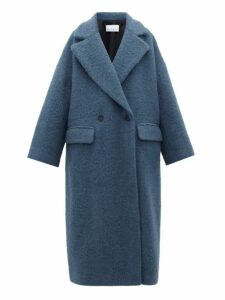Raey - Double Breasted Wool Blend Blanket Coat - Womens - Blue