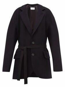 Raey - Oversized Single Breasted Wool Harris Tweed Blazer - Womens - Navy
