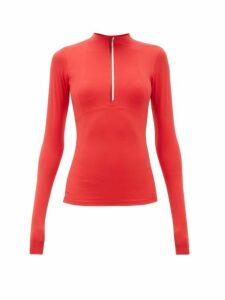 Vaara - Ella Half Zip Long Sleeve Top - Womens - Red Multi