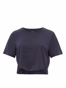 The Upside - Sofia Technical Jersey Cropped T Shirt - Womens - Navy