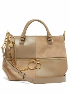 See By Chloé - Emy Suede And Leather Tote Bag - Womens - Grey