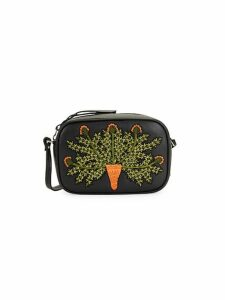 Small Embroidered Leather Crossbody Bag