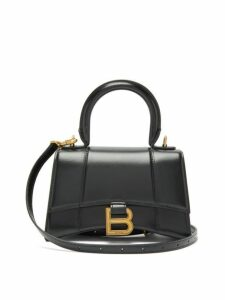 Balenciaga - Hourglass Xs Leather Handbag - Womens - Black